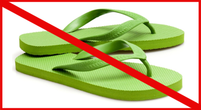 Wearing flip flops can affect your health